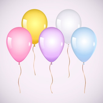 Kolorowe realistyczne balony z helem
