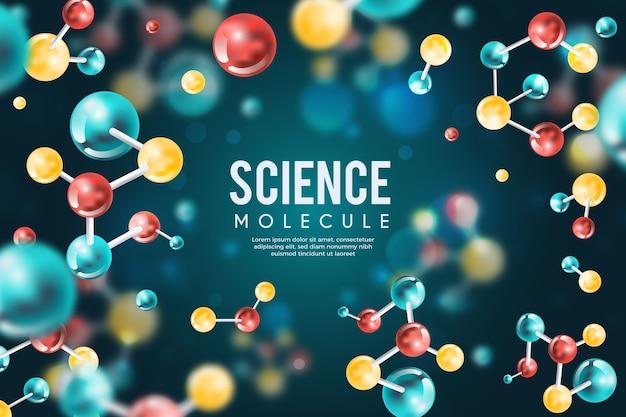 Kolorowe realistyczne tło nauki