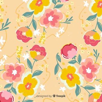 Kolorowe ręcznie malowane kwiaty tła