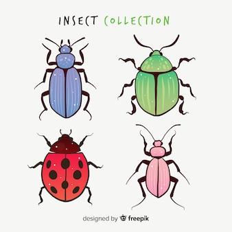 Kolorowe ręcznie rysowane chrząszcze opakowanie