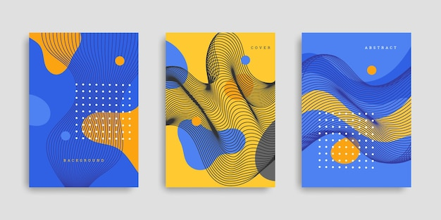 Kolorowe, ręcznie rysowane kształty okładki kolekcji