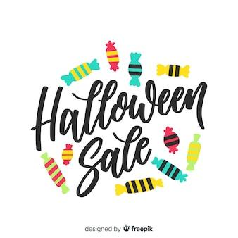 Kolorowe ręcznie rysowane sprzedaż halloween