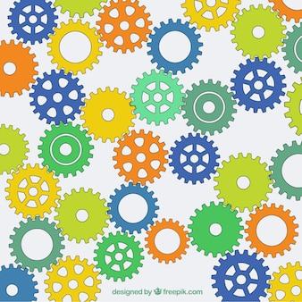 Kolorowe ręcznie rysowane tła biegów