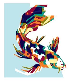 Kolorowe ryby koi
