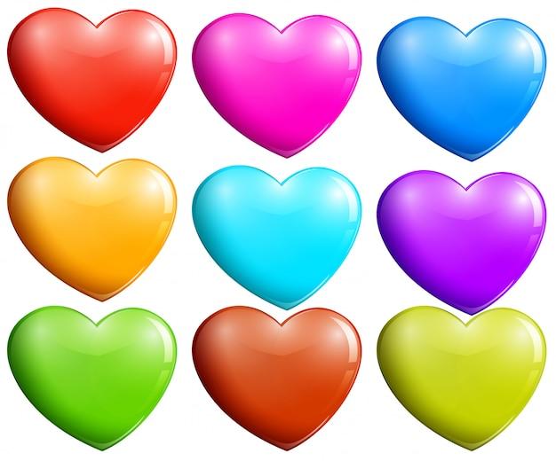 Kolorowe serca