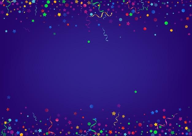 Kolorowe serpentyny błyszczące niebieskie tło