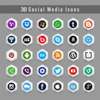 Kolorowe social media icons tle