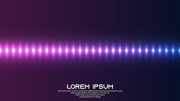 Kolorowe spektrum dźwięku ze świecącym światłem