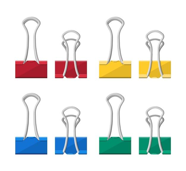 Kolorowe spinki do segregatorów.