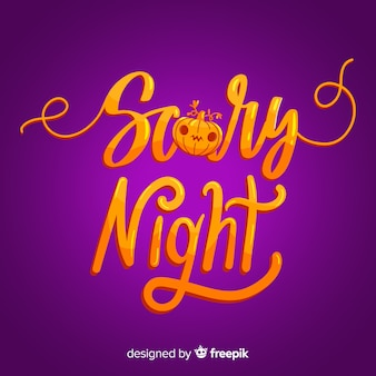 Kolorowe straszne noc halloween napis