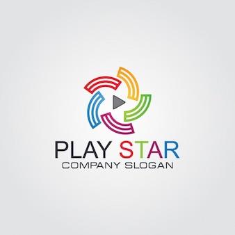 Kolorowe streszczenie okrągły logo