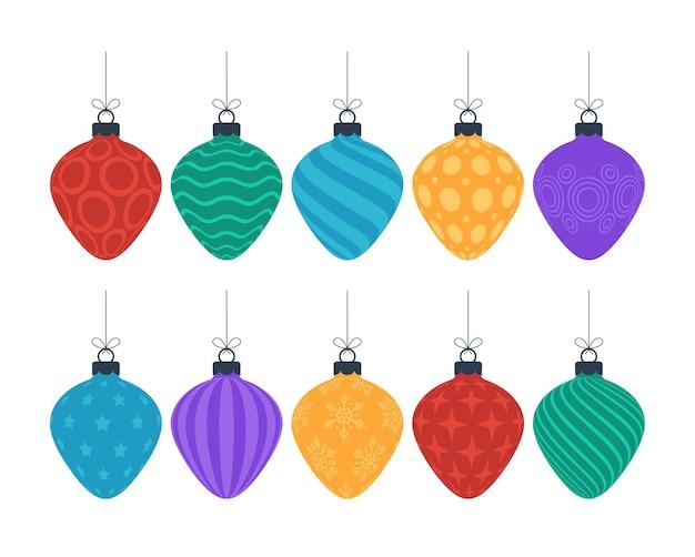 Kolorowe świąteczne ozdobne drzewo zabawki
