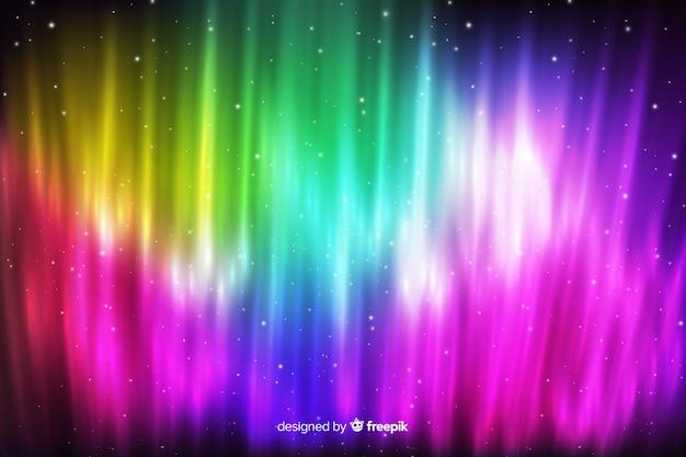 Kolorowe światła północnego tła
