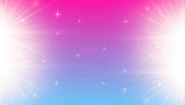 Kolorowe świecące tło z błyskami