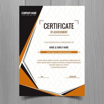 Kolorowe szablon certyfikatu