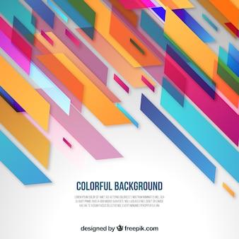 Kolorowe tło w abstrakcyjnych kształtach