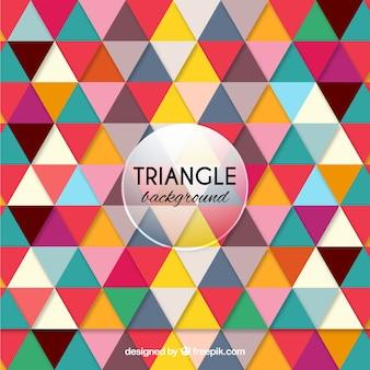 Kolorowe tło w trójkątnym stylu