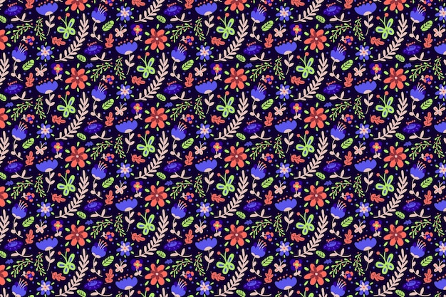 Kolorowe tapety ditsy kwiaty