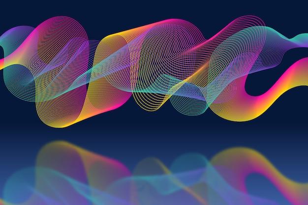 Kolorowe tapety fala korektora