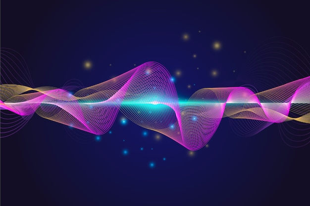 Kolorowe tapety fali dźwiękowej