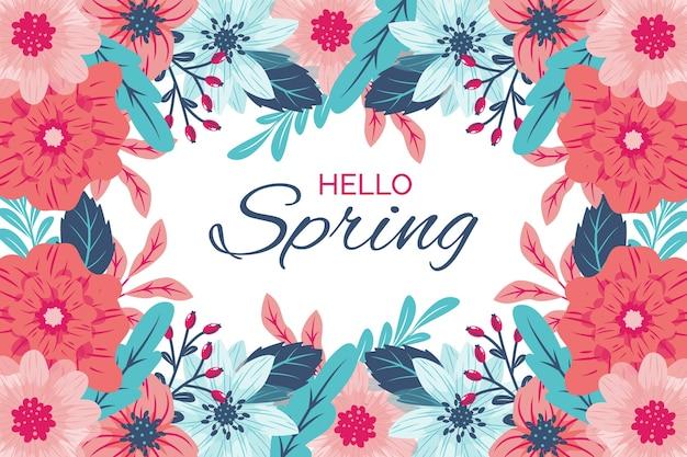 Kolorowe tapety ręcznie rysowane wiosny