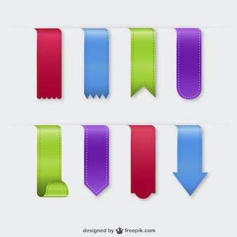 Kolorowe tekstylne zakładki