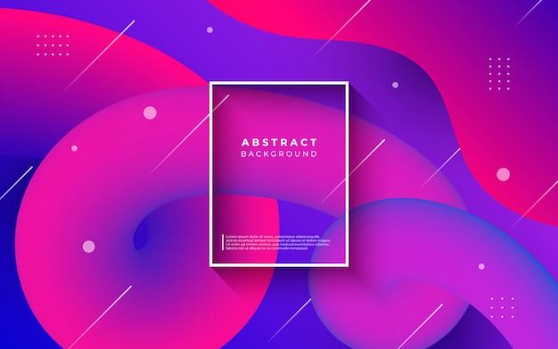 Kolorowe tło abstrakcyjne z płynnych kształtów