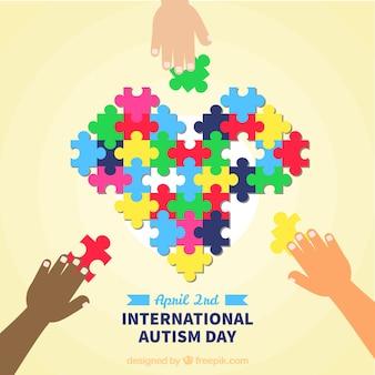 Kolorowe tło autyzmu dnia świata