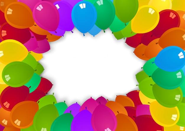 Kolorowe tło balony strony