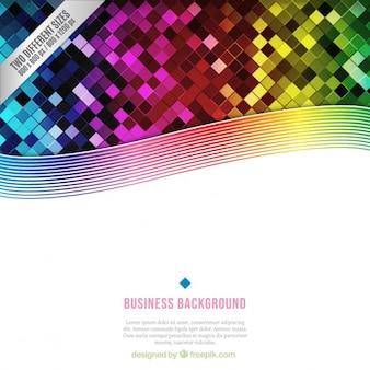 Kolorowe tło biznesowych w stylu geometrycznym
