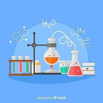 Kolorowe tło chemii płaskie