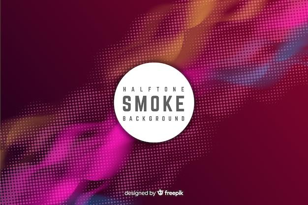 Kolorowe tło dymu półtonów