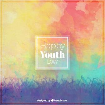 Kolorowe tło dzień młodzieży