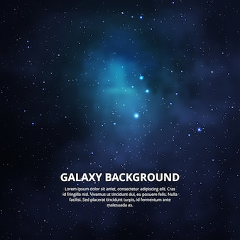 Kolorowe tło galaktyki.