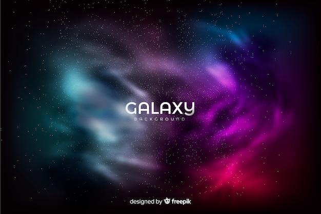 Kolorowe tło galaktyki
