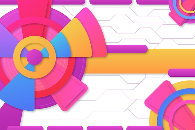 Kolorowe tło geometryczne gradientu