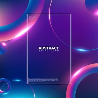 Kolorowe tło geometryczne. modna kompozycja kształtów gradientowych. fajny projekt tła dla plakatów. ilustracja wektorowa