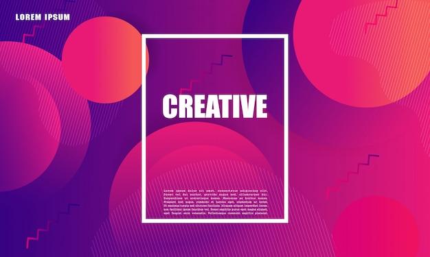 Kolorowe tło geometryczne. płynny kształt kompozycji. projekt plakatu, ulotki, wektor