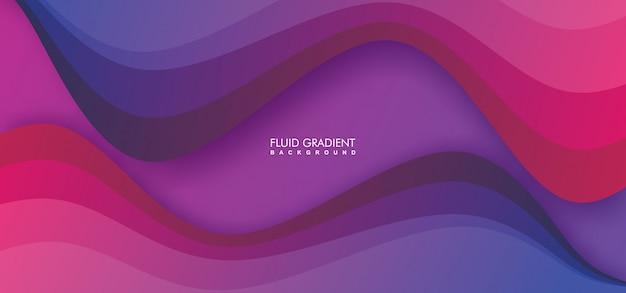 Kolorowe tło geometryczne z płynnych kształtów kompozycji