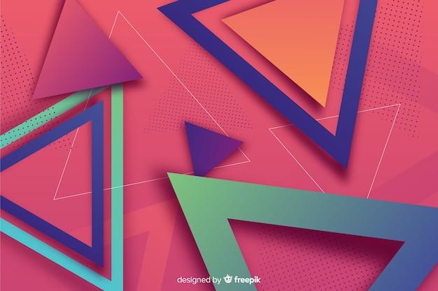 Kolorowe tło gradientowe kształty geometryczne