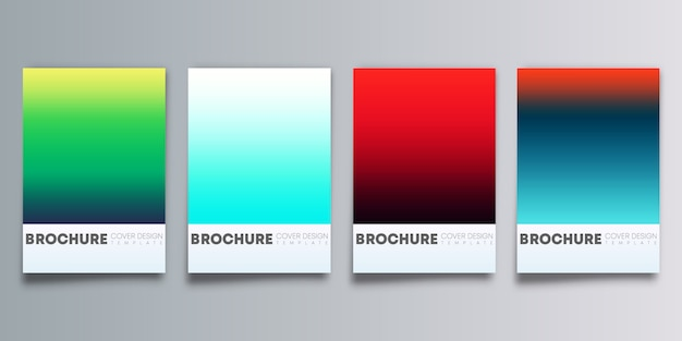 Kolorowe tło gradientowe ustawione dla ulotki