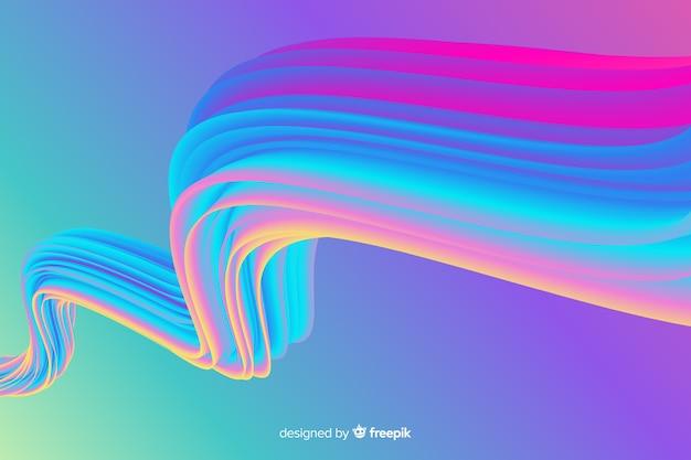Kolorowe tło holograficzne obrysu pędzla