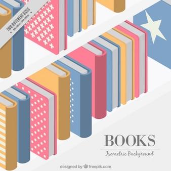 Kolorowe tło książka na półce