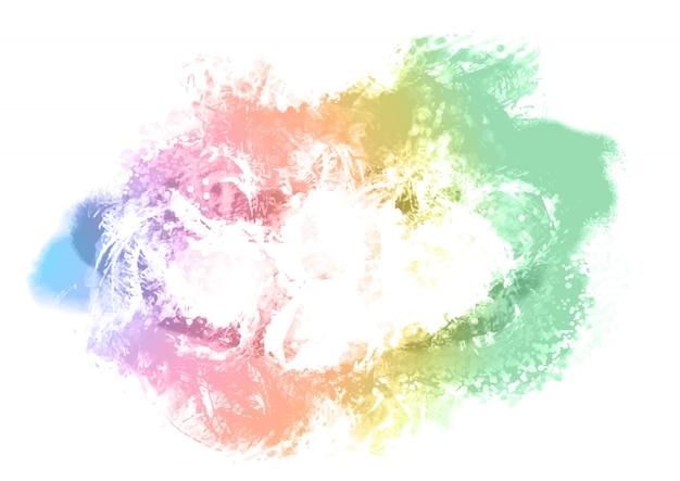 Kolorowe tło malowane