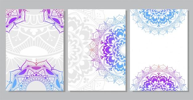Kolorowe tło mandali na okładkę książki, zaproszenie na ślub, ulotkę, pocztówkę, baner lub prezentację