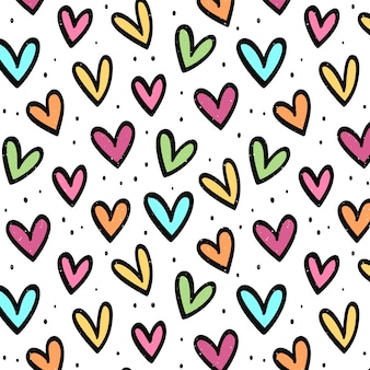 Kolorowe Tło Miłości Premium Wektorów