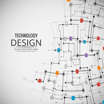 Kolorowe tło nowoczesnych technologii