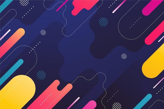 Kolorowe tło o różnych abstrakcyjnych kształtach