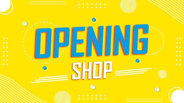 Kolorowe tło otwierania sklepu lub baner