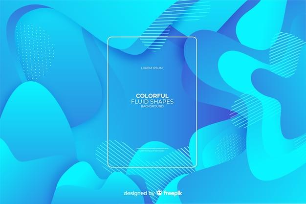 Kolorowe tło płynne kształty